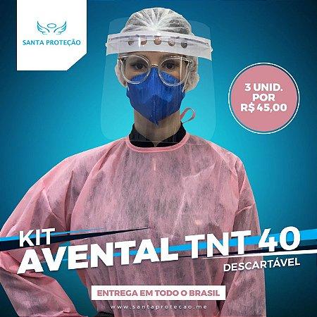 KIT com 3 Aventais em Tnt 40g - Rosa