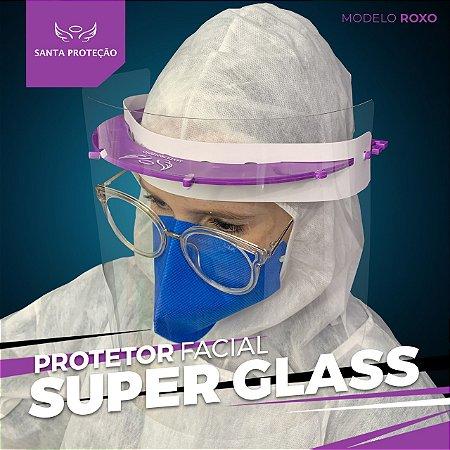 Protetor Facial SuperGlass Convencional - 100% Transparente - Cor Roxo