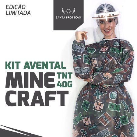 KIT Avental Minecraft em Tnt 40g - 2 Unidades