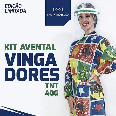 KIT Avental Vingadores em Tnt 40g - 2 Unidades