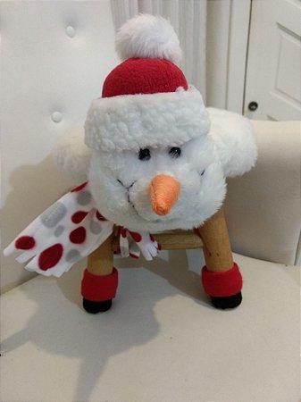 Banquinho Boneco de Neve