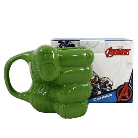 Caneca Porcelana Hulk 3D Marvel 400 ml
