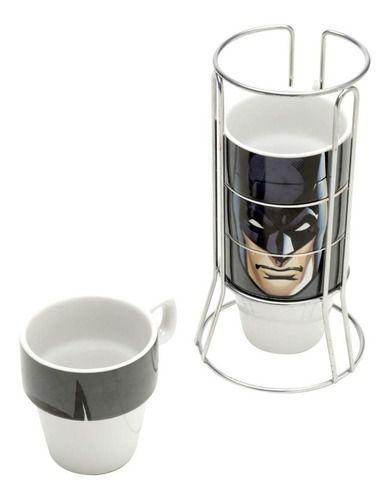 Conjunto de Xícaras em Cerâmica 5 peças Batman - DC Comics