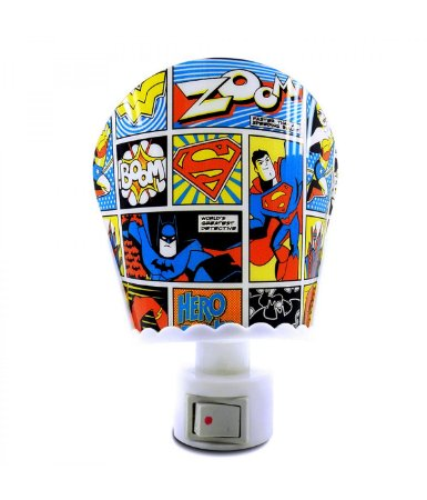 Luminária LED Liga da Justiça 3D - DC Comics
