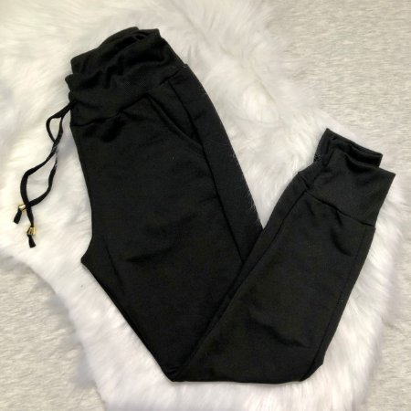Calça Feminina Jogger moletom com bolso Ref 810
