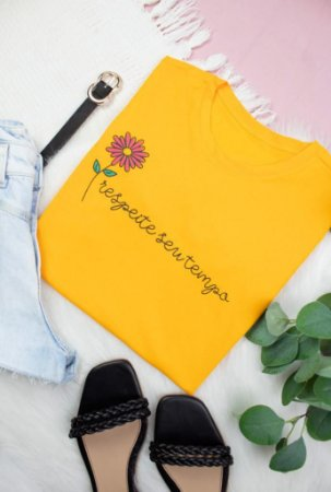 T shirt feminina algodão REF 401