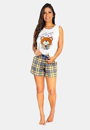Pijama de algodão xadrez ref 1096