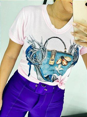 T-shirt Bolsa Azul