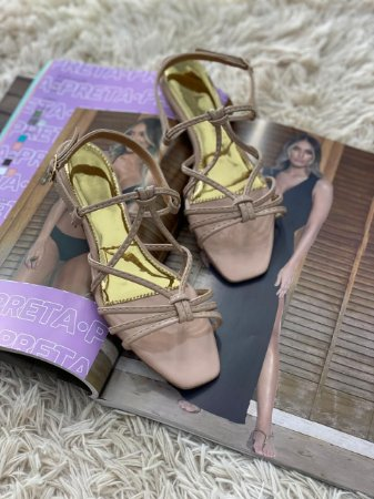 Rasteira D'Shoes Nude