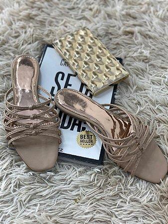 Rasteira D'Shoes Nude Nó