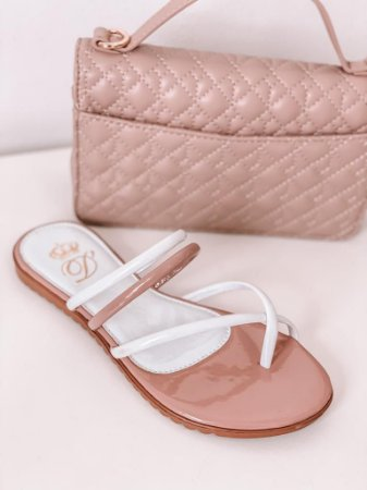 Rasteira Bicolor D'Shoes