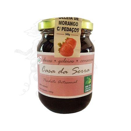 Geleia de Morango com Pedaços Casa da Serra - 340 g