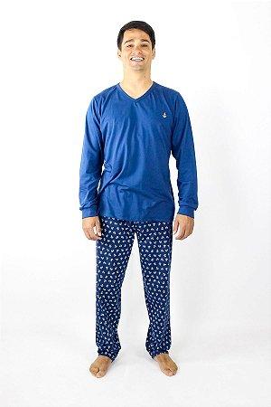 Pijama Masculino Inverno Âncora