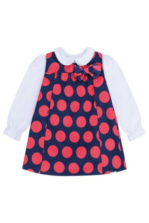 Vestido Feminino Bebê + Body Manga LOnga Infanti Ref 45396