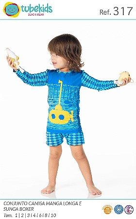Conjunto Com Blusa Proteção Masculino Tubekids Ref 317