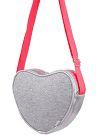 Bolsa Coração Cinza Com Brilho Pampili Ref 6001023