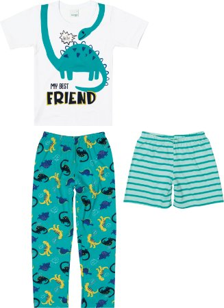 Pijama Masculino 3 Peças Malwee Kids Ref 89221