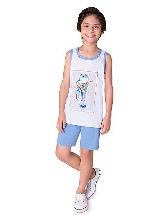 Pijama Masculina Infantil Veggi REf 0541
