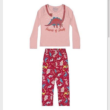 Pijama Fem Manga Longa Elian REf 13006
