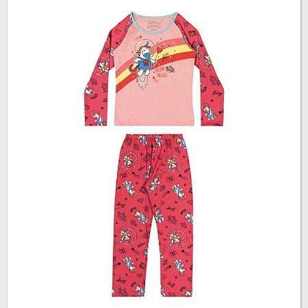 Pijama Manga Longa Fem Elian Ref 13007