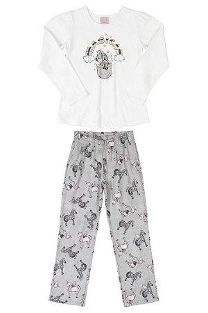 Pijama Feminino Mãe e Filha Manga Longa Quimby Ref 28727