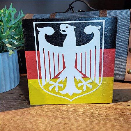 Placa Bandeira Alemanha com Brasão de Armas