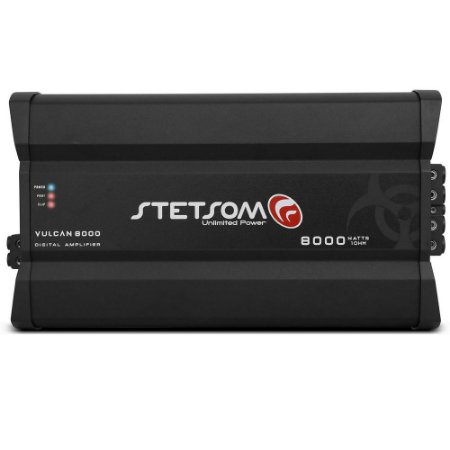 Módulo Amplificador Digital Stetsom Vulcan 8000w Rms 1 Canal 1 Ohm
