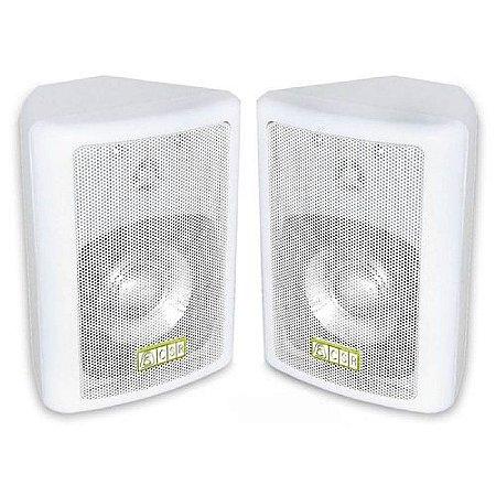 Caixa Acústica Passiva Csr 80 Branca 50w Rms Par Com Suporte