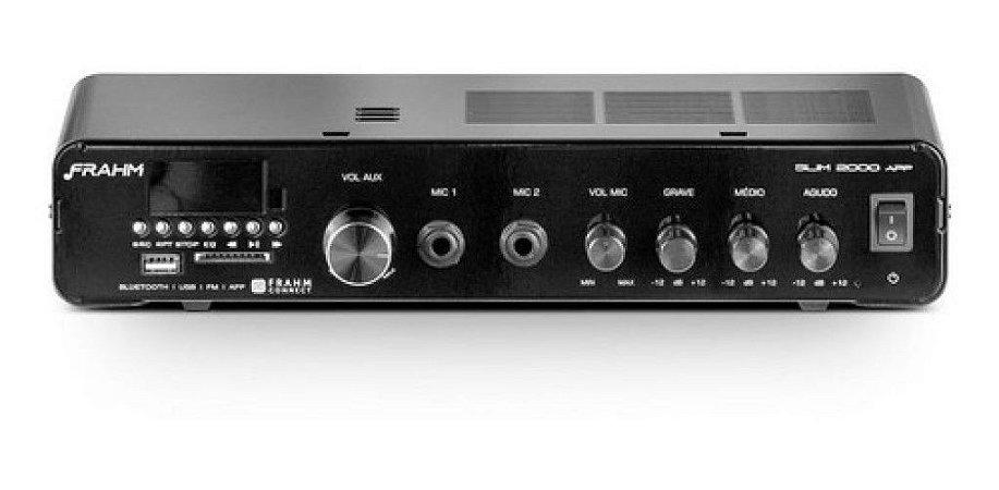 Amplificador Multiuso 120w Usb Frahm Slim 2000 App G3
