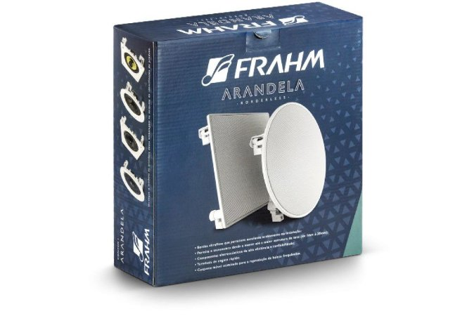 Caixa de Som Arandela Frahm Quadrada 6CX5Q Aluminio 4ohms