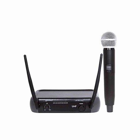 Microfone Sem Fio LM-58U PLL Lexsen UHF com 1 Bastão Bivolt