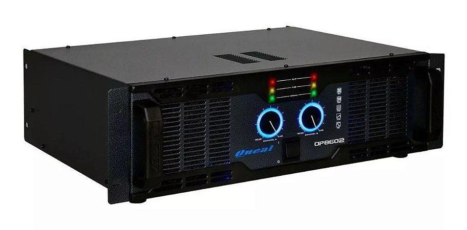 Amplificador De Potência Oneal OP8602  2 Canais 1000W RMS