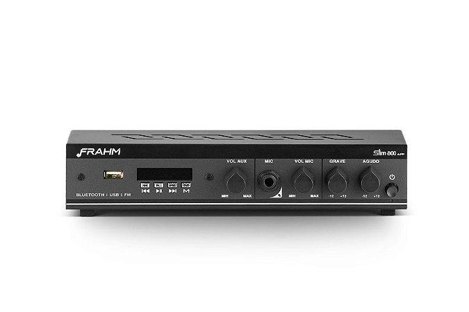 Amplificador Frahm Slim 800 App 30w Receiver Bluetooth Som Ambiente