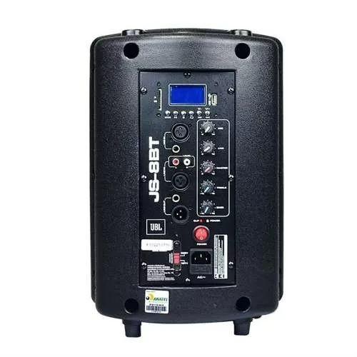 Caixa Ativa Jbl Js8bt Bluetooth Usb Sd Aux 50w Amplificada