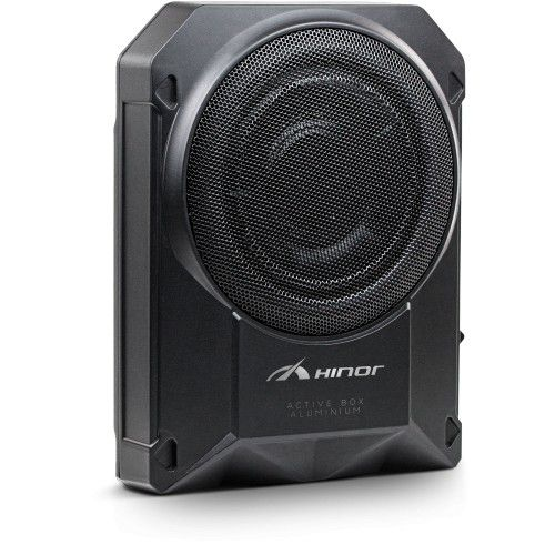 Caixa Automotiva Amplificada Hinor Active Box 10 polegadas Slim 300W/RMS