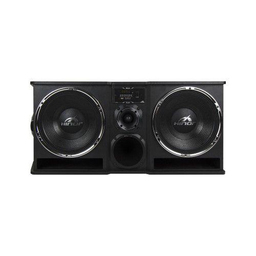 Caixa Automotiva Amplificada Hinor Box Trio APP 2200W