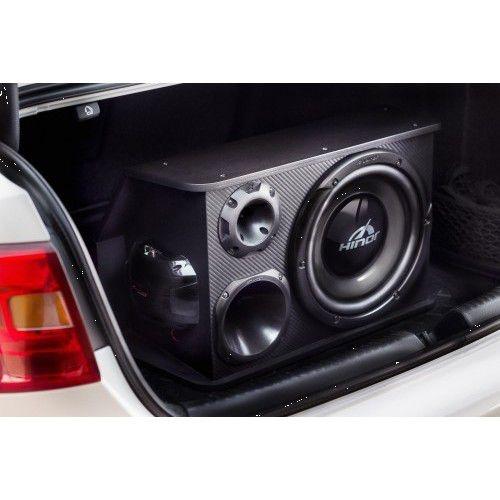 Caixa Automotiva Amplificada Hinor Box Trio One 125W/RMS