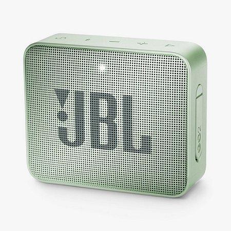 Caixa De Som Bluetooth Jbl Go 2 Verde Claro Portátil