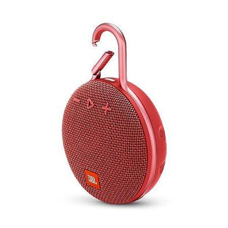 Caixa de Som JBL Clip 3 Bluetooth A Prova D'água Vermelha