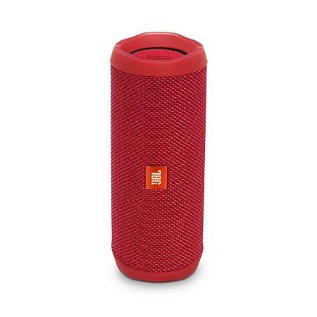Caixa de som JBL portátil Flip 4 Red com Bluetooth