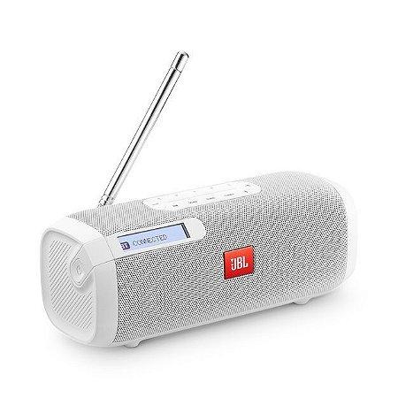 Caixa De Som JBL Tuner Fm Com Bluetooth Portátil Branca