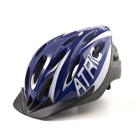 Capacete Ciclismo Bike Mtb Atrio Led Tamanho M Azul Bi166