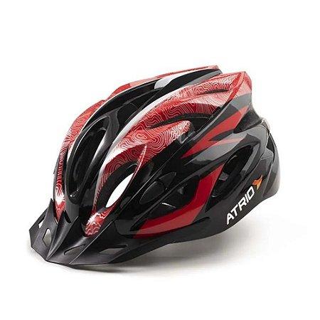 Capacete Ciclismo Bike Mtb Atrio Tamanho G Vermelho Bi177