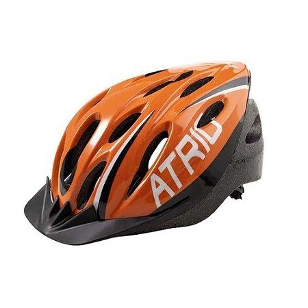 Capacete Ciclista Bike Mtb Atrio Tamanho G Laranja Bi173