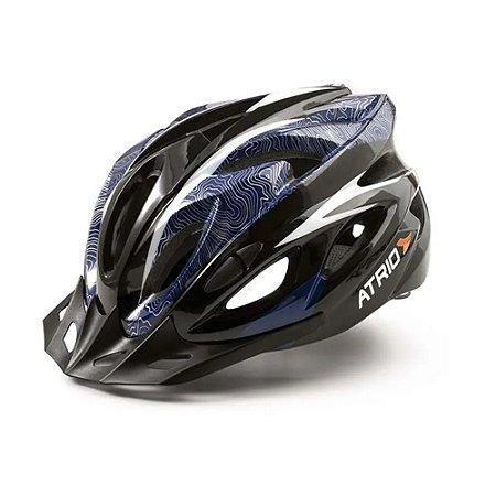 Capacete Esporte Ciclismo Mtb Atrio Tamanho G Azul Bi179