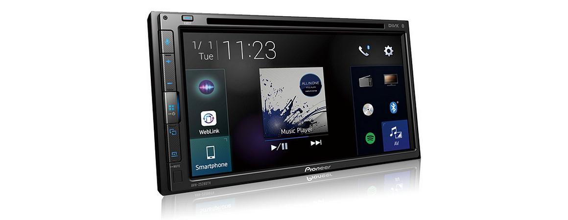 Dvd Pioneer AVH-Z5280TV 7 Pol. 2 Din Bluetooth Weblink Tv Usb Multimída