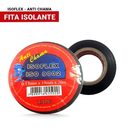 Fita Isolante 20Mt Anti Chama Isoflex