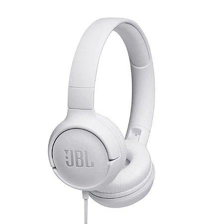 Fone De Ouvido JBL TUNE T500 Branco Headphone