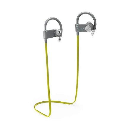 Fone De Ouvido Multilaser Bluetooth Earhook Amarelo com Cinza Ph253 Pulse