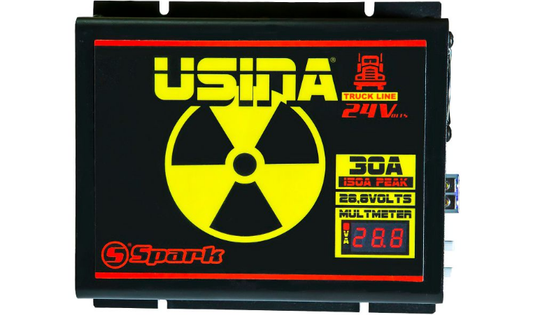 Fonte Carregador de Bateria Usina Truck 30A 24V Bivolt
